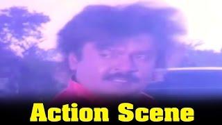 Ponmana Selvan Movie : Vijayakanth Best Action Scene