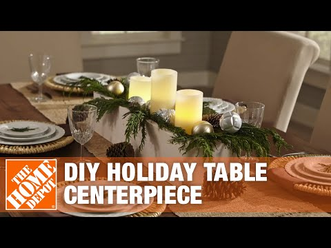 DIY Christmas Centerpiece: How to Create a Wooden Centerpiece | The Home Depot