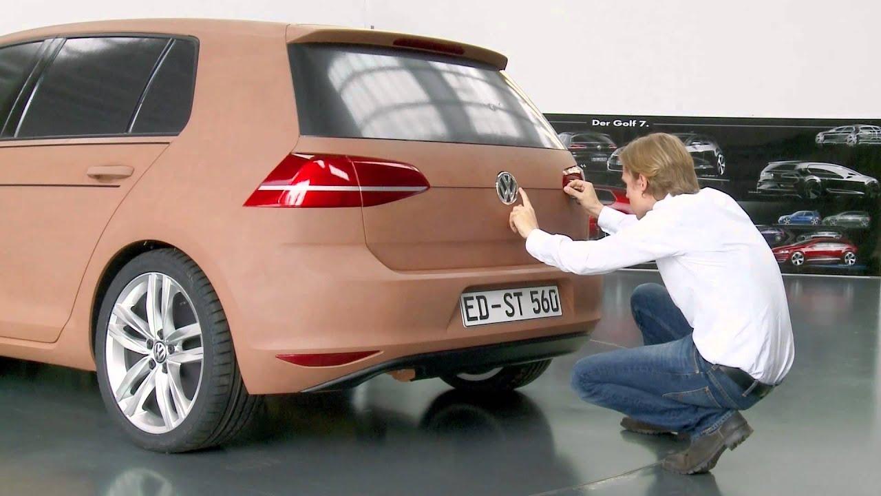 Design of car model - Volkswagen Golf Development 1 1 Clay Model Automototv
