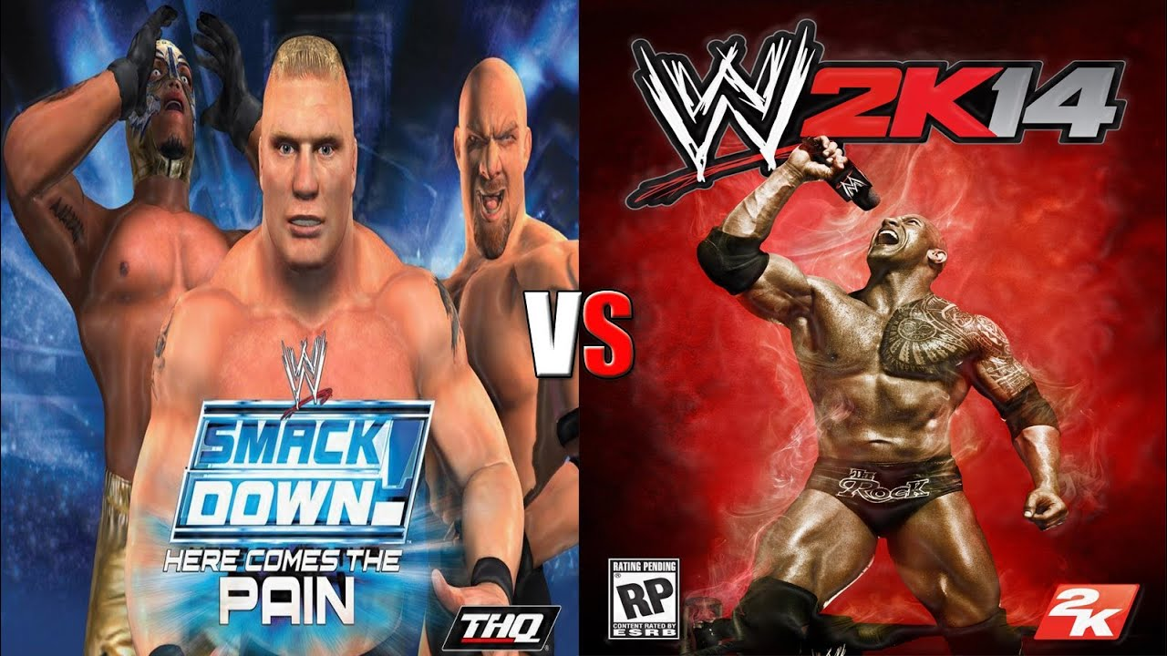 Wwe smackdown here comes the pain wwe 2k14 gameplay comparison y2j vs goldberg youtube
