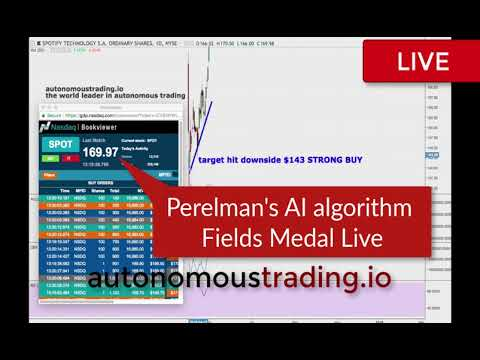 Perelman's Fields Medal AI Trading Algorithm Ahead Spotify Earnings