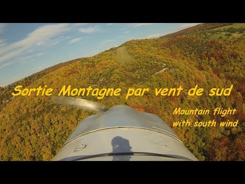 Sortie montagne par vent de sud (mountain flight with south wind).