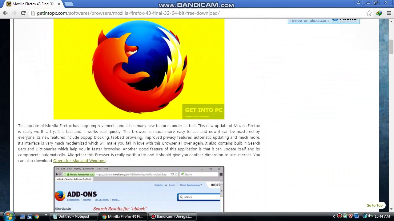 How to download and install mozilla firefox for windows xp and windows  vista for 2018