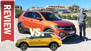 VW T-Cross vs. T-Roc: Unterschiede, Vergleich und Qualität im Test – Polo SUV gegen Golf SUV! Video