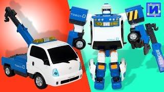 Тоботы трансформеры: Тобот Зеро. Робот - машина эвакуатор. Распаковка.