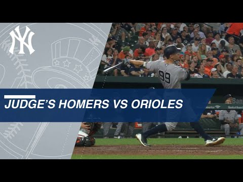 Aaron Judge dominates the Orioles with 13 home runs
