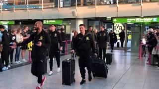 Der BVB auf dem Weg zum Spiel beim 1. FC Nürnberg