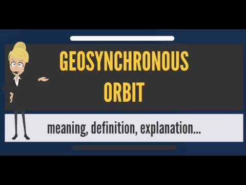 What is GEOSYNCHRONOUS ORBIT? What does GEOSYNCHRONOUS ORBIT mean?