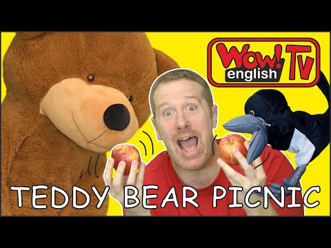 Teddy Bear Picnic For Kids With Steve And Maggie | Learn Speaking Wow English TV