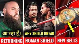 NEW WWE TITLE Finally UNVEIL ! Roman Condition Discussed ! Braun Return New LOOK TLC 2018 Highlights
