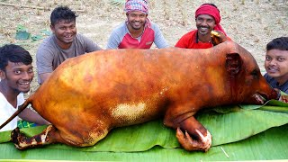 How Clean PIG Meat and Cook by Santali Tribe People  Tribal Traditional Suar Meat Cooking Recipe