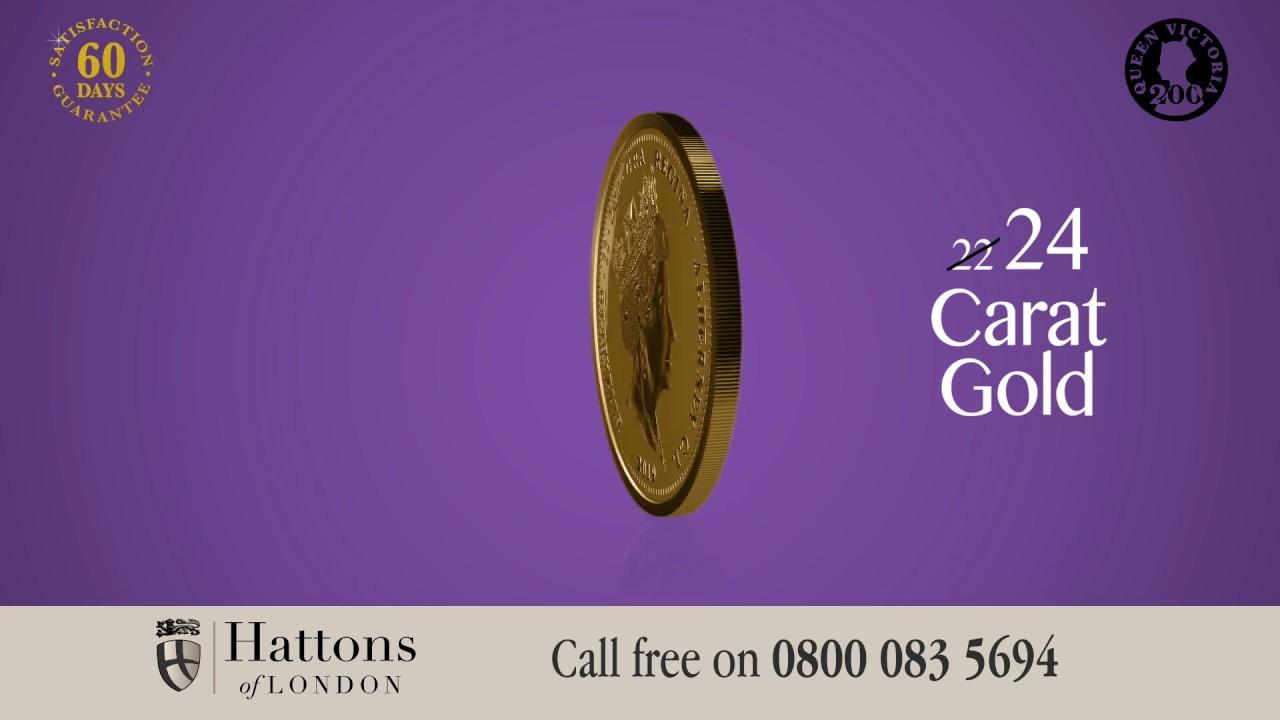 The 2019 Queen Victoria 200th Anniversary 24 Carat Gold Quarter Sovereign