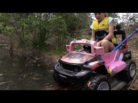 Amphibious vehicle car boat made from toy car