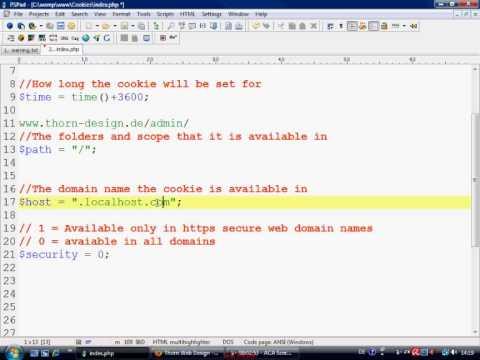 PHP Tutorial - COOKIES / setcookie
