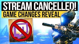 Destiny 2 News | REVEAL STREAM CANCELLED! - New End Game Updates & Fixes to Be Revealed Instead!