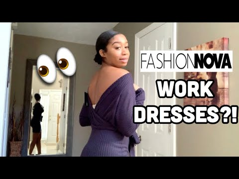 Would You Wear This To Work?! 👀🤔| Fashion Nova Try-On Haul | Mariah Perry