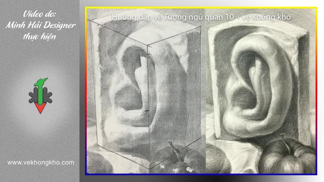Hướng dẫn vẽ tượng ngũ quan 10 – vẽ không khó