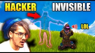 I find an invisible hacker in Fortnite...?