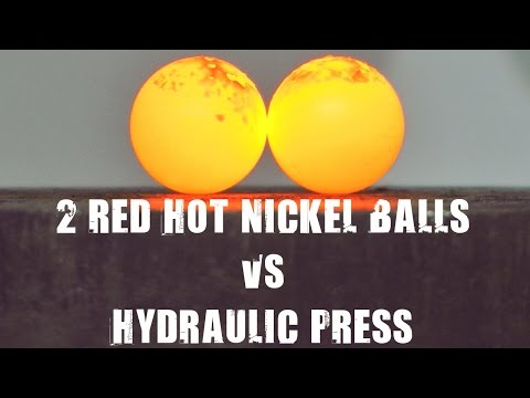 Thumbnail: Two Red Hot Nickel Balls vs 500 Ton Hydraulic Press