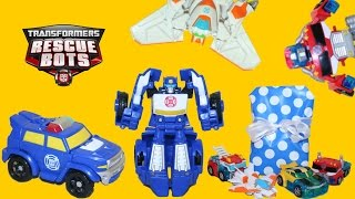 Transformers Rescue Bots Chase the Police Bot from Playskool + Optimus Prime Bumblebee and Blades