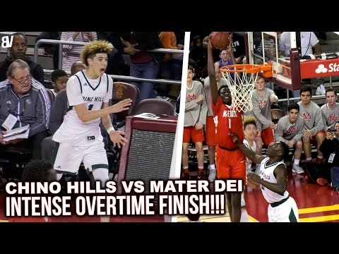 Chino Hills VS Mater Dei OVERTIME PLAYOFF BATTLE! CLASSIC OT FINISH At USC! Highlights
