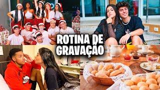 ROTINA DE GRAVAÇÃO DA MANSÃO DE NATAL! *por trás das câmeras*