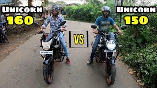 Honda Unicorn 150 vs Unicorn 160
