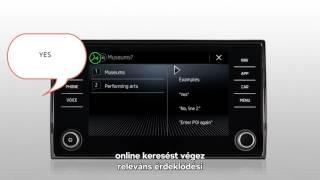 ŠKODA Connect - Online POI keresés hangvezérléssel
