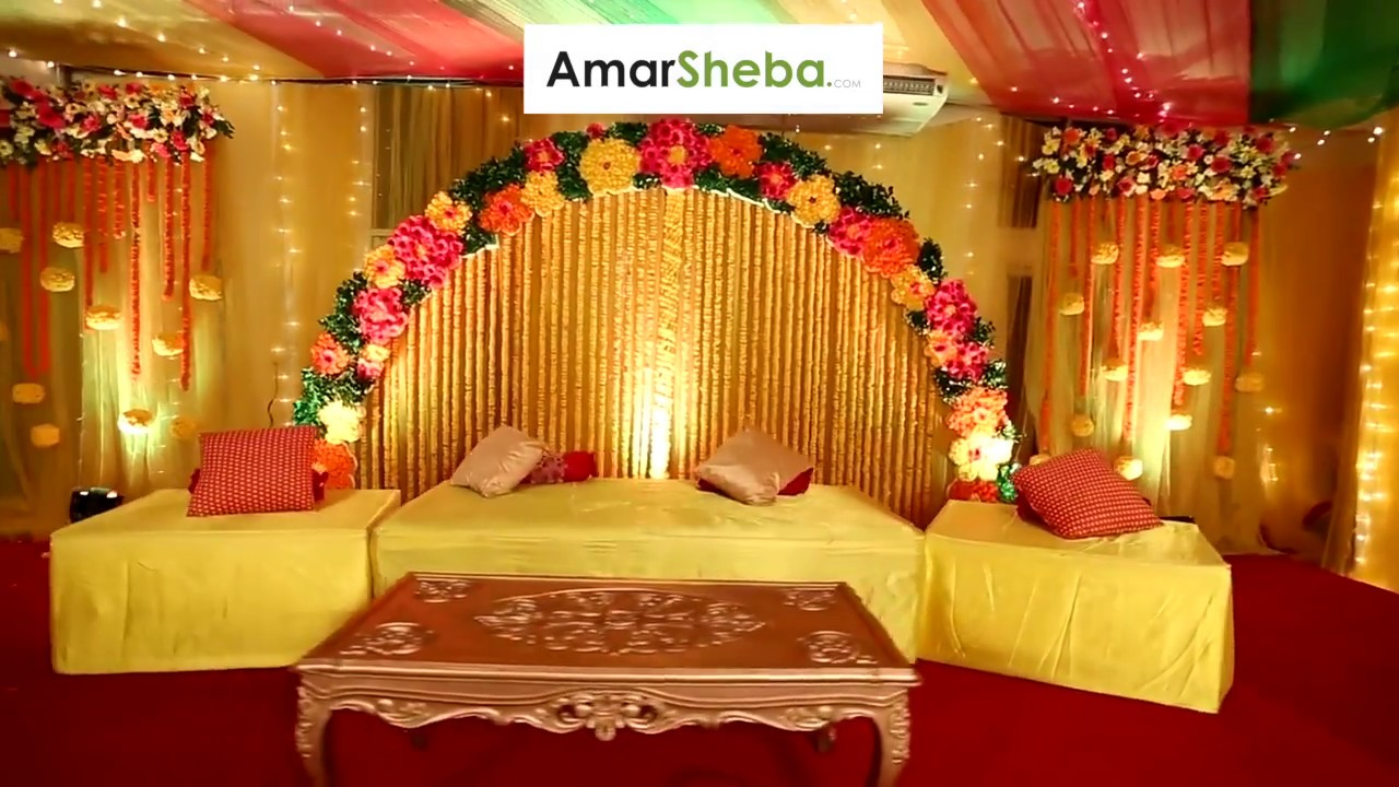 Wedding And Holud Stage Decoration Compnay In Dhaka