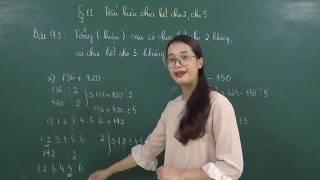 Toán 6[Đại số]: Giải bài tập 91 đến 97 SGK trang 36 tập 1 (Dấu hiệu chia hết cho 2, cho 5)