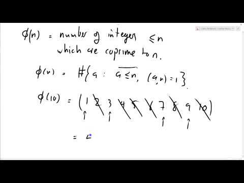 Number Theory 34: Euler totient function