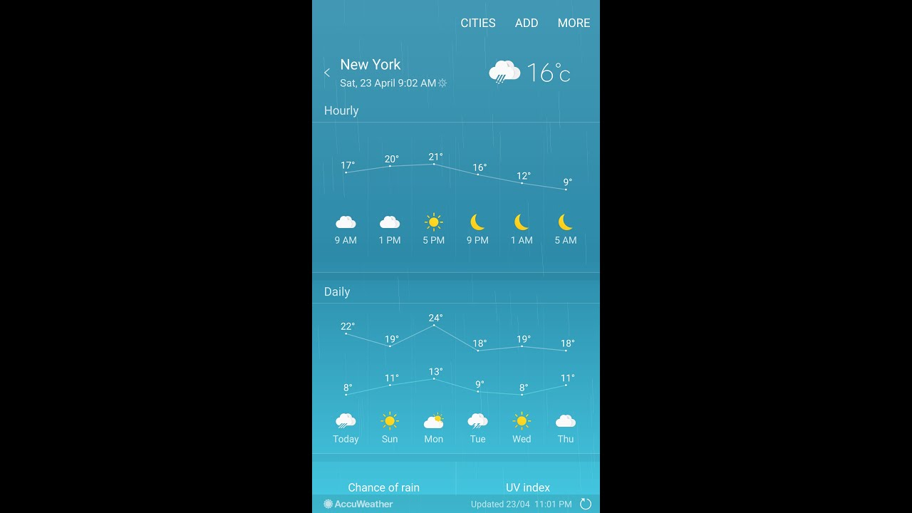 note 5 weather widget disappeared