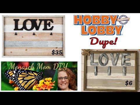 Hobby Lobby Dupe DIY FARMHOUSE Home Decor #hobbylobby #diy #dupe