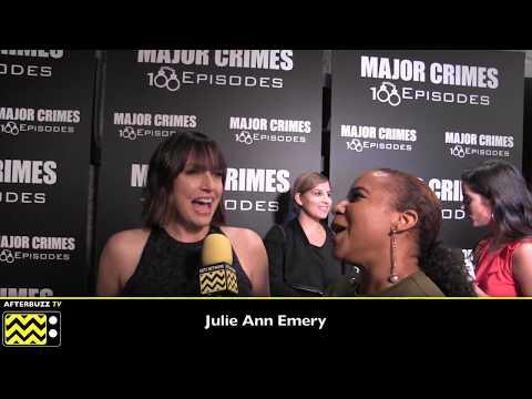 Julie Ann Emery  Major Crimes 100 Episodes Celebration