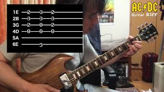 This House Is On Fire - AC/DC Guitar Riff Mini Tutorial