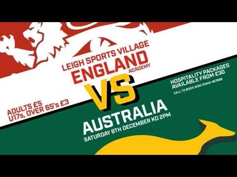 England Academy v Australian Schools