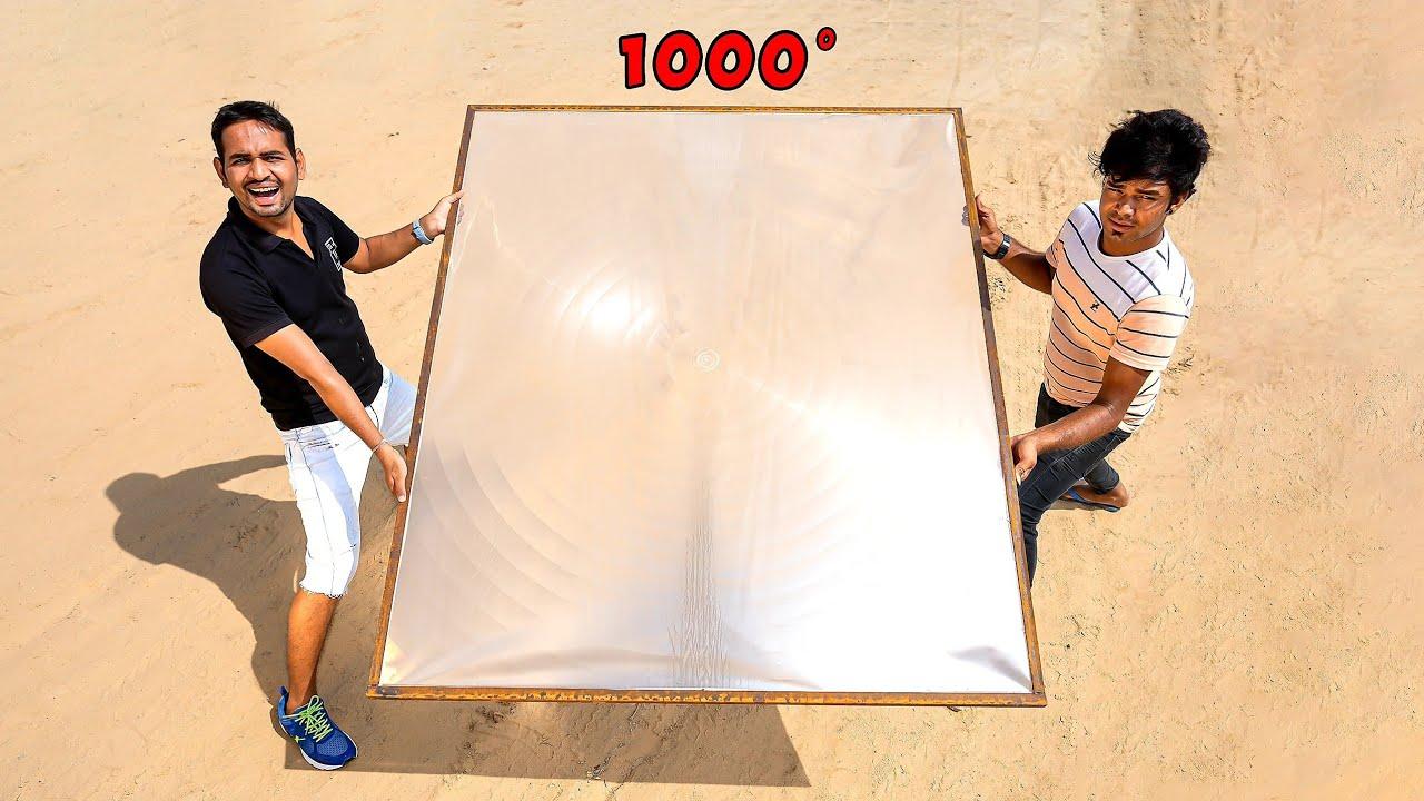 World's Biggest Solar Lens - इसने लोहे को पिघला दिया 😱