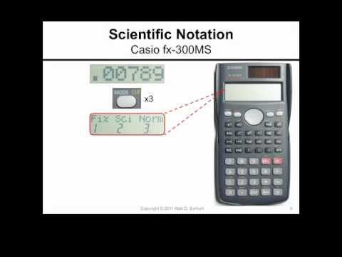 Scientific Notation And The Casio Fx 300ms Calculator Youtube