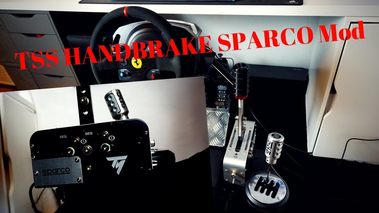 TSS Thrustmaster/Sparco Handbrake UNBOXING AND TEST