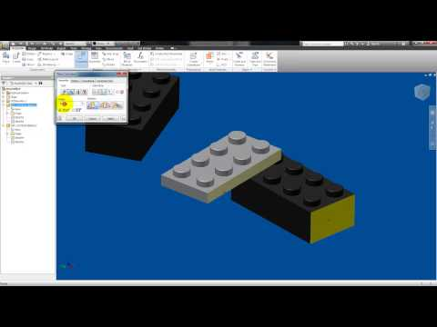 Autodesk Inventor Tutorial 33: Assembly Positioning Commands