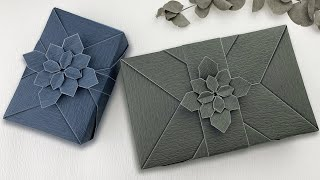 Gift Wrapping | 長方形禮物包裝设计+摺紙花教學2021