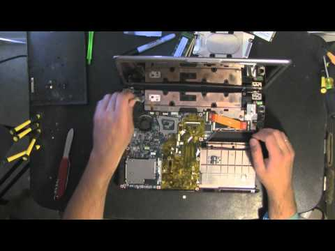 how to open hp pavillion a1324n