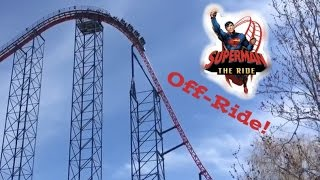 Superman The Ride Six Flags New England (Off-Ride Clips)