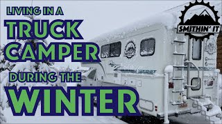 Living in a Trขck Camper During the Winter