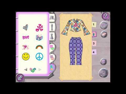 Игры для девочек - Барби. Показ мод: коллекция  ретро - стиль (прохождение игры)