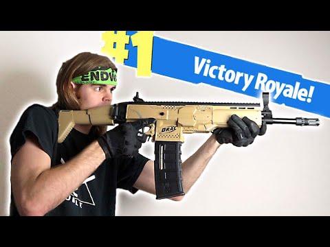 NERF Mod: Fortnite Battle Royale Scar Nerf Gun Mod IN REAL LIFE!
