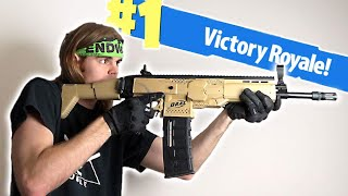 NERF Mod: Fortnite Battle Royale Scar Nerf Gun Mod IN REAL LIFE!