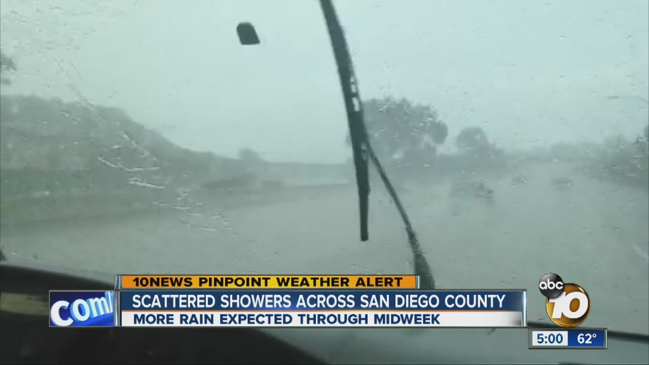 Scattered Showers Across San Diego County Youtube
