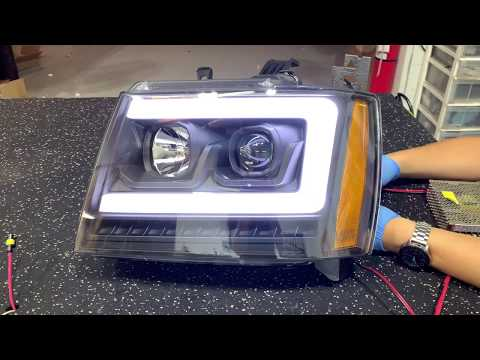 Chevy Tahoe Aftermarket Headlight Projector Upgrade + Diode Dynamics Strips