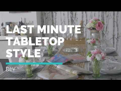 PUT A RING ON IT PARTY - Last minute Tabletop Styling